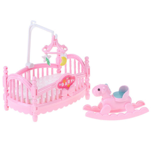 Doll bed Trojan horse  baby room miniature play scene pr EW