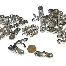 2 Set Large BXR Brand mini latch Silver Metal Hook screws Latches Clasp Lock c10
