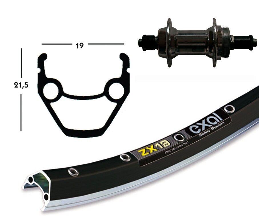 Bike-Parts 28″ Hinterrad Exal ZX 19 + + + Schraubkranz-Nabe 6 7-fach (QR) c06cd5