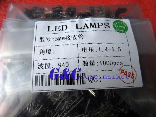 10Pcs 5mm 940nm IR infrared Receiving LED Lamp