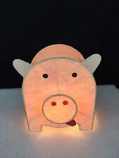 Odd Pink Pig Paper Light - Pig Night Light - Paper Pig Table Light - Pot Belly