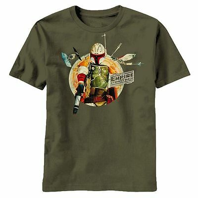 Star Wars T-Shirt Boba Fett 100% Cotton Short Sleeve Graphic Tee - Green
