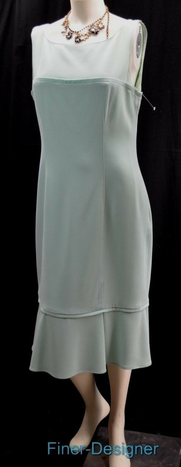 Luca Luca Luca Luca Aqua worsted Wool Sleeveless Pencil Dress Size Italian 48 USA 14 L XL 91f09c