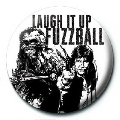 STAR WARS laugh it up fuzzball - BUTTON BADGE official licensed merchandise SW19