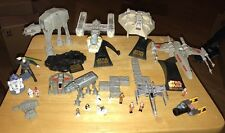 1995 Star Wars Action Fleet Lot Galoob Micro Machines XWing ATAT R2D2 Figure Toy