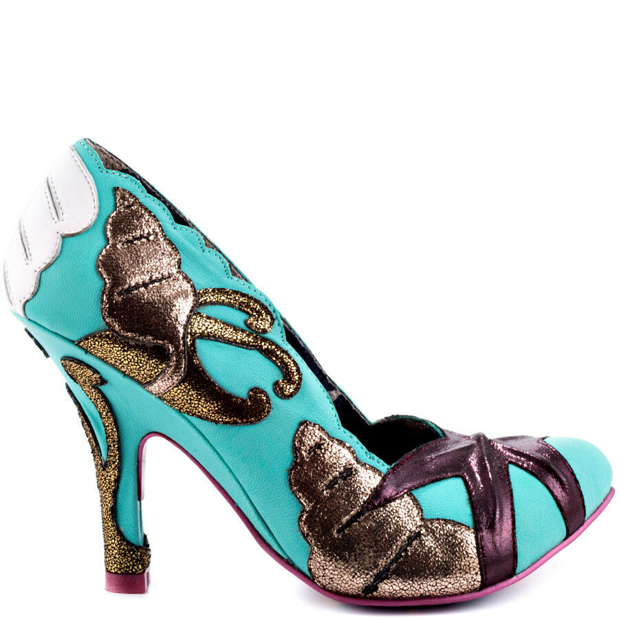 IRREGULAR PUMPS CHOICE LADY W MINT Schuhe 6 PUMPS IRREGULAR STYLISH SWIRLS DECORATIVE GOLD 67e859