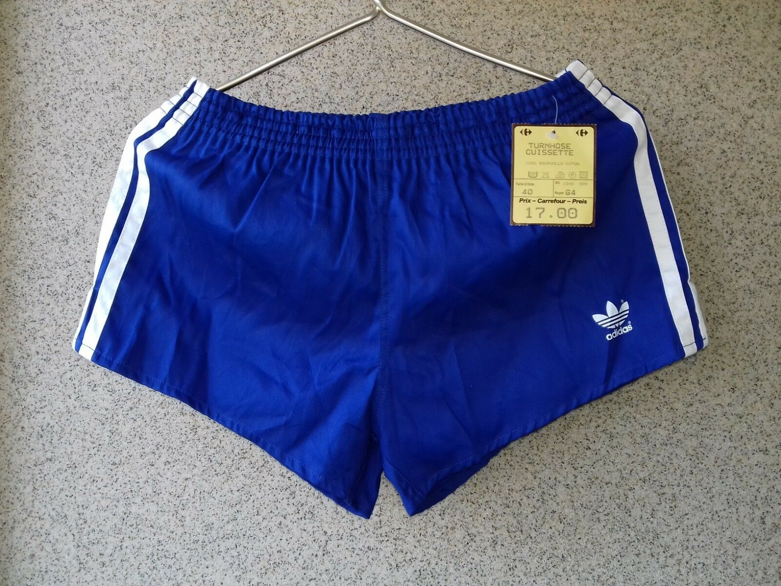 Adidas Blu Vintage Shorts M West Germany Adidas 19801985 OLD Rare