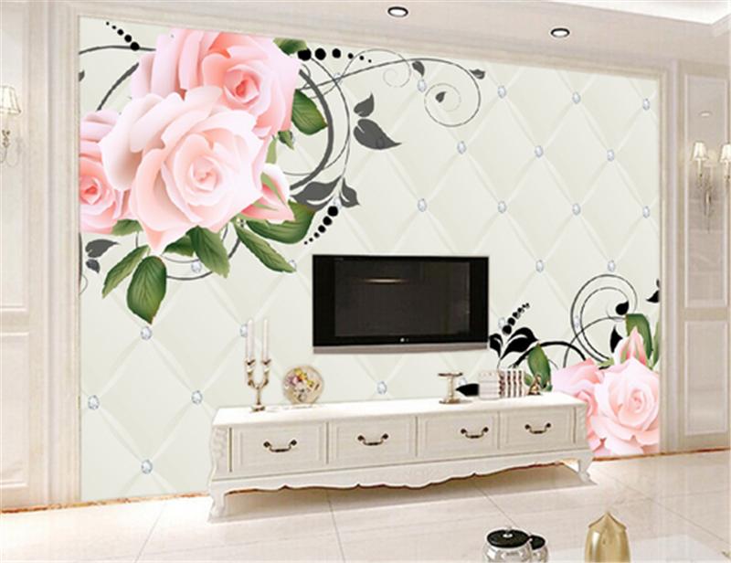 3D Romantic Flowers Leaves9 Wallpaper Mural Paper Wall Print Wallpaper Murals UK