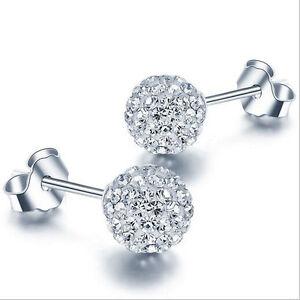 Wholesale-925-Sterling-Silver-Crystal-Ball-Ear-Stud-Earrings-Womens-Jewelry