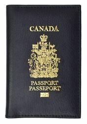 Canada Reise Leder Passport Organizer Halter Kartenhülle Schutz Hülle Etui