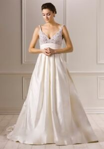 Image Is Loading Used Priscilla Of Boston Ball Gown Ivory Wedding