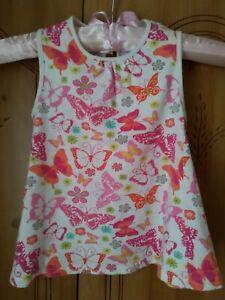 FILLES JOLI TOP-ROBE- Papillon Design- Taille 18 - 24 mois- Blanc-Multi-afficher le titre d`origine kgSAeZUe-07222720-621544756