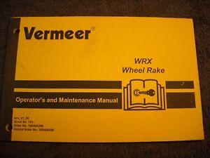 Used-Vermeer-WRX-Wheel-Rake-Operators-Manual