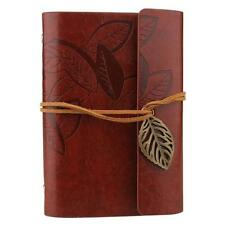 Portable Retro Journal Memo Dream Notebook Paper Notepad Leaf Blank Diary Red MT