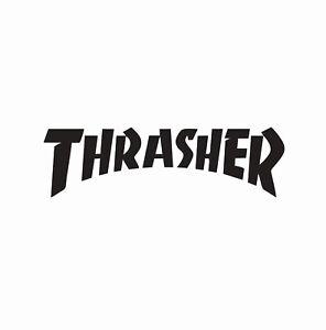 Thrasher-Skateboard-Skater-Vinyl-Die-Cut-Car-Decal-Sticker-FREE-SHIPPING