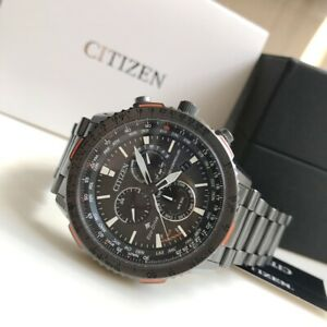 Citizen-Promaster-Sky-Watch-Eco-Drive-CB5007-51H-Atomic-Grey-IP-Steel-Watch