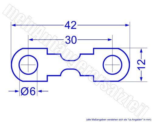 10x coche-fusible rayas de copia de seguridad hoja de copia de seguridad 50a 50 amperios />/> o /</<