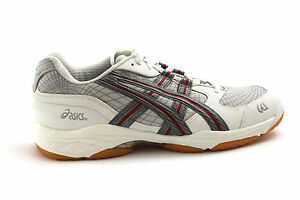 Scarpa da uomo bianca in pelle sintetica Asics Gel Fibre sneakers sport
