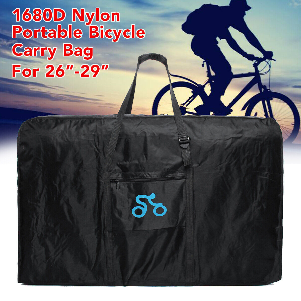 1680D 26-29''Nylon Portable Bicycle Carry  Bag Cycling Bike Transport Case Travel  high quality genuine