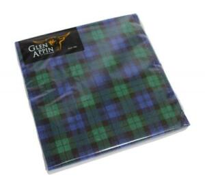 Glen Appin of Scotland Scottish Blackwatch Tartan 3 Ply Paper Napkins