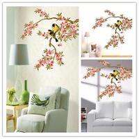 Birds Flower Tree Branch Removable Vinyl Decal Wall Sticker Art Mural  Decor AY