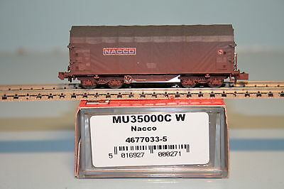 "Radient Modellbahnunion Mu 35000-c-w Schiebeplanenwagen Db""nacco""gealtert/neu/ovp Attractive Appearance Toys & Hobbies Model Railroads & Trains"