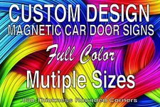Auto Car Amp Truck Magnet Signs Personalized Custom Design Full Color