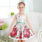 NEW Flower Girls Dress in Floral cotton summer sleeveless Print Size 6/9m-8
