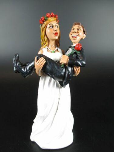 Funny Figur Wedding Hochzeit,Braut Bräutigam auf Arm,14 cm,Neu