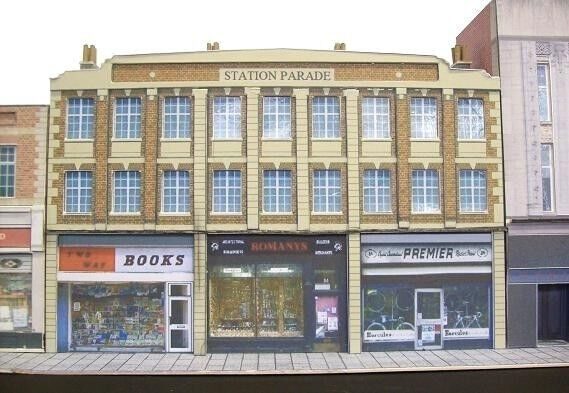 Kingsway, 00 scale, Station parade shops with extensions, Kit build service.