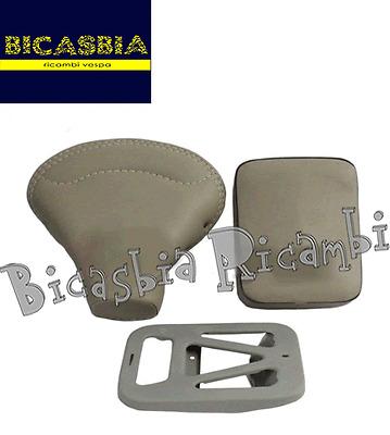 8257 - SELLA + PIASTRA E CUSCINO GRIGIO VESPA 125 VNB3T VNB4T VNB5T VNB6T