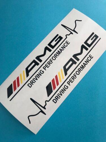 2x AMG Driving Performance Aufkleber Car Window Bumper Sticker Vinil Decal 308