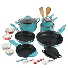The Pioneer Woman 27 Piece Vintage Aluminum Cookware Combo Set Turquoise For Sale Online Ebay