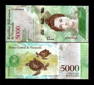 Bolivares x 500 Pcs Hlaf Brick Venezuela 5000 5,000 2016-2017 P-96 Used