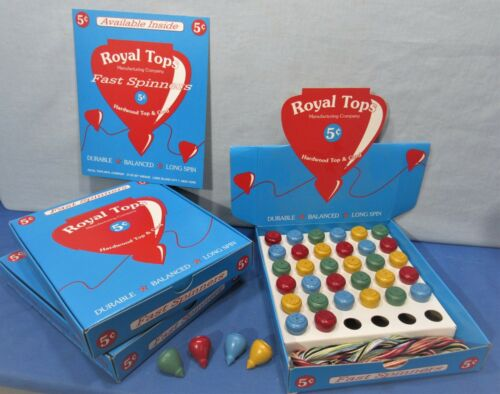 Royal 5¢ Tops ~ Display Box of 3 Dozen /& Store Window Sign