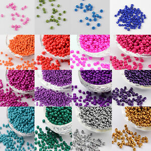 50g-4mm-6-0-Glass-Seed-Spacer-Beads-Garment-Accessories-Opaque-Multi-Colors-DIY