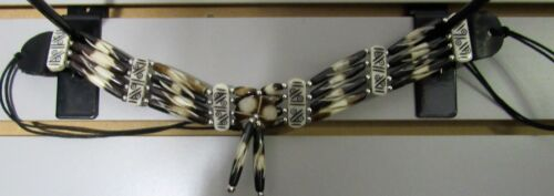 """Bone Choker 4 Row Hairpipe  26/"""" Free Shipping on Orders of 12 or more 12 Styles"""
