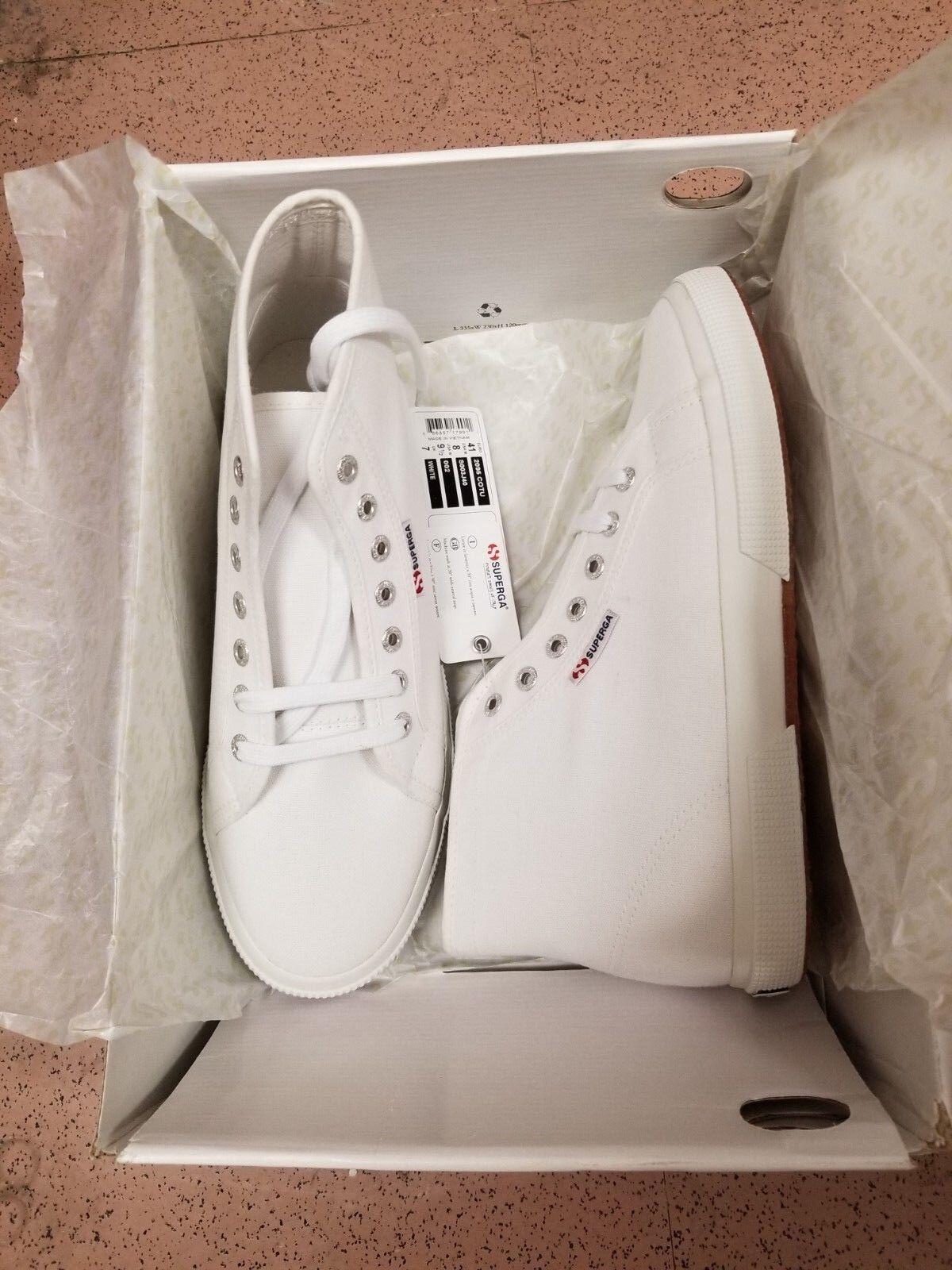 NEW SUPERGA COTU 2095 Sneaker - White, Size 8M 9 1 2W