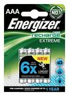 8 X Energizer Extreme AAA 800mah Rechargeable Batteries NiMH