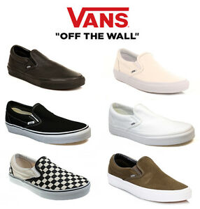 4f93c358f0f Image is loading Vans-Unisex-Trainers-Classic-Slip-On-Leather-or-