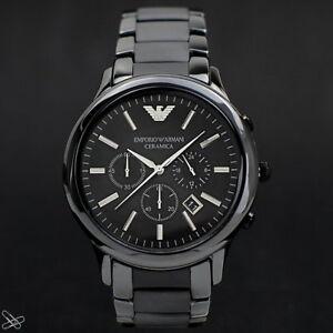 Emporio-Armani-Reloj-Hombre-Cronografo-AR1451-Ceramica-Negro