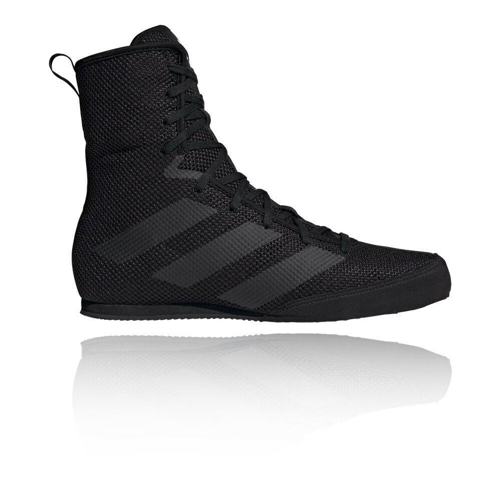 Adidas mannens Box Hog 3 Plus Boxing schoenen- zwart Sports ademende Lichtweight