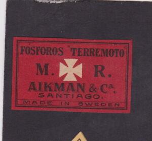 Ancienne étiquette Allumettes Suède BN45087 Aikman Santiago 8MvFz16Y-08062719-390318314