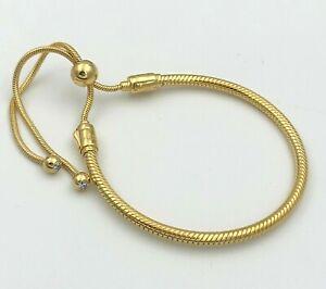 Details about Genuine Pandora SHINE™ Moments Snake Chain Sliding Bracelet  567110CZ-2 with Box