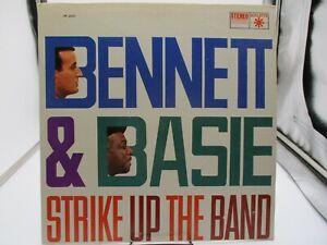 Tony Bennett & Count Basie Strike Up the Band LP Roulette SR 25231  VG+ c VG+
