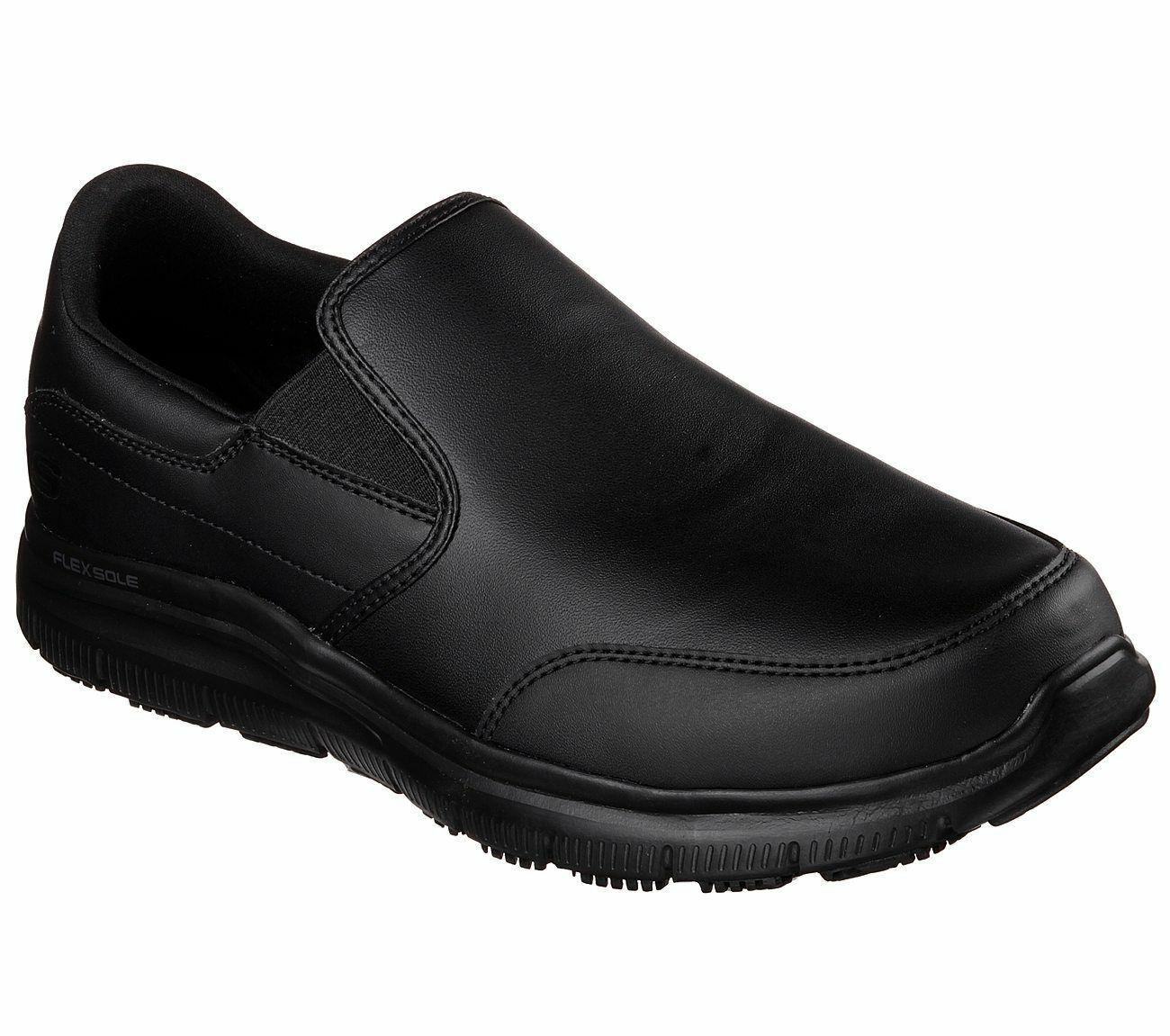 Skechers Flex Advantage SR-bronbois Homme Noir 77071 BLK Coupe Décontractée Chaussures