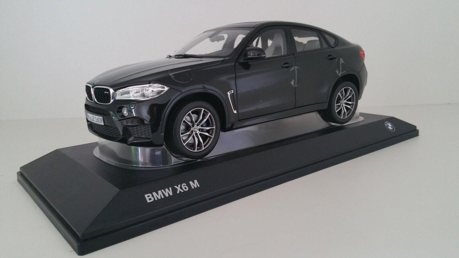 Original bmw miniatura x6m f86 sac Sapphire negro 1 18 norev 80432364887 nuevo