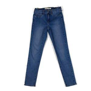 Gap-Womens-Jeans-Easy-Legging-High-Stretch-Skinny-Medium-Blue-Wash-Size-27-R