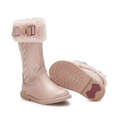 Girls' Pink Faux Fur Trim Boots Infant