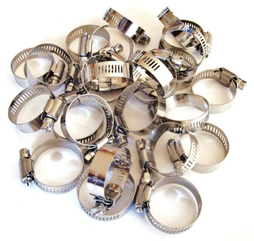 """25 GOLIATH INDUSTRIAL STAINLESS STEEL HOSE CLAMPS 1/"""" 1-1//2/"""" SSHC112 25MM-38MM"""
